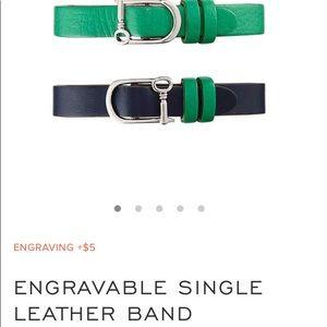 KEEP COLLECTIVE Single GreenBlue Leather Bracelet